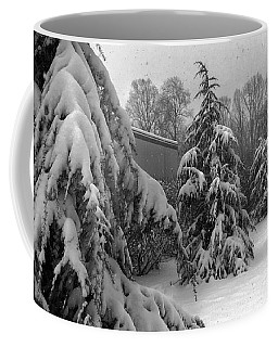 Coffee Mug featuring the photograph Snow On Pines by Robert G Kernodle
