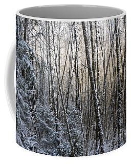 Snow On The Alders Coffee Mug