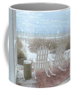 Snow On The Beach 4 Coffee Mug