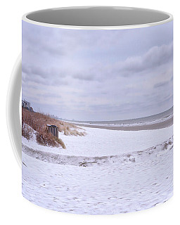 Snow On The Beach I Coffee Mug