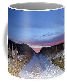 Snow On The Dunes Coffee Mug