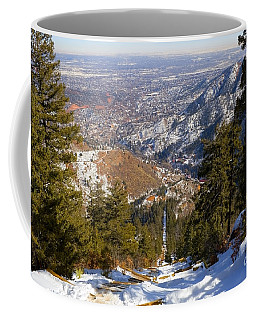 Snow On The Manitou Incline In Wintertime Coffee Mug