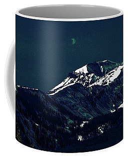 Snow On The Mountain At Night Coffee Mug