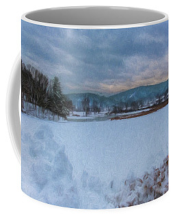 Coffee Mug featuring the photograph Snow On The West River by Tom Singleton