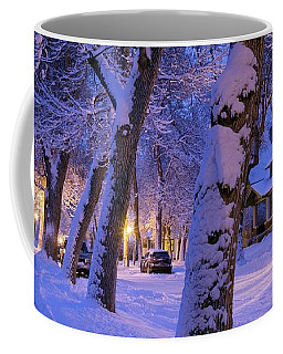 Snow On Warren St. Coffee Mug