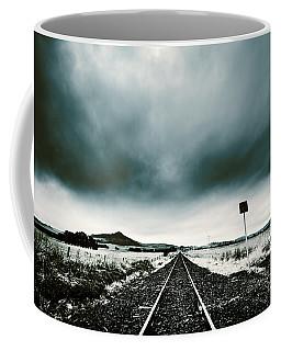 Coffee Mug featuring the photograph Snow Railway by Jorgo Photography - Wall Art Gallery