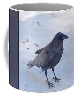 Snow Raven Coffee Mug by Eric Tressler