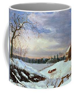 Snow Scene In New England Coffee Mug