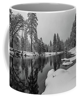 Snow Shower Along Merced Riverbank Coffee Mug