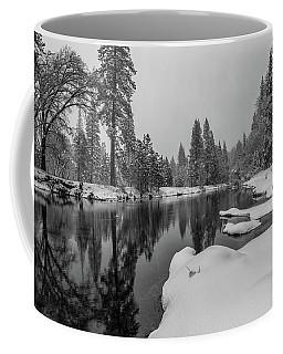 Snow Shower Along Merced Riverbank Coffee Mug