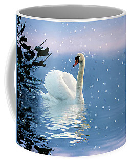Snow Swan Swim Coffee Mug