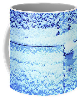 Coffee Mug featuring the photograph Snow Van 51 Chevy Panel by Laurie Stewart