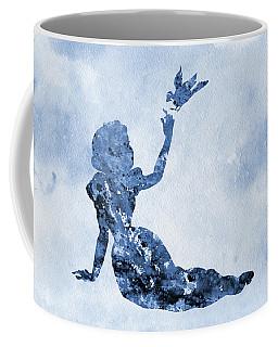 Snow White With Bird-blue Coffee Mug