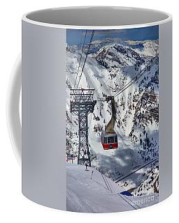 Snowbird Tram Portrait Coffee Mug