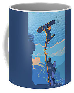 Snowboard High Five Coffee Mug