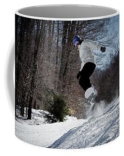 Coffee Mug featuring the photograph Snowboarding Mccauley Mountain by David Patterson