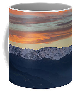 Snowcapped Miapor Range Under Golden Clouds, Armenia Coffee Mug