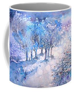 Snowfall In A Moonlit Wood Coffee Mug