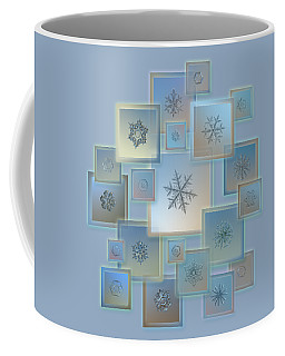 Coffee Mug featuring the photograph Snowflake Collage - Bright Crystals 2012-2014 by Alexey Kljatov