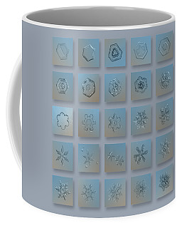 Coffee Mug featuring the photograph Snowflake Collage - Season 2013 Bright Crystals by Alexey Kljatov