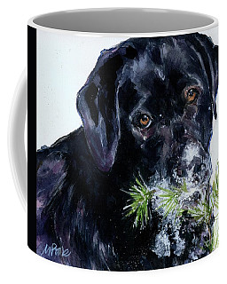 Coffee Mug featuring the painting Snowflake by Molly Poole