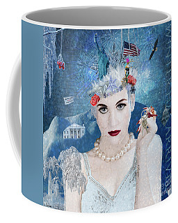 Coffee Mug featuring the digital art Snowflake by Nola Lee Kelsey