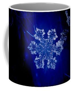 Snowflake On Blue Coffee Mug