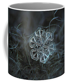 Coffee Mug featuring the photograph Snowflake Photo - Alcor by Alexey Kljatov