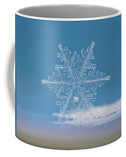 Coffee Mug featuring the photograph Snowflake Photo - Cloud Number Nine by Alexey Kljatov