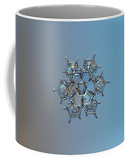 Coffee Mug featuring the photograph Snowflake Photo - Flying Castle by Alexey Kljatov