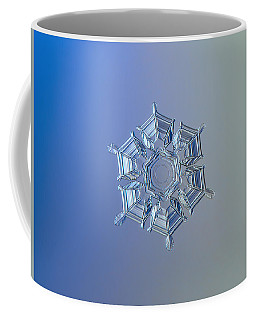 Coffee Mug featuring the photograph Snowflake Photo - Ice Relief by Alexey Kljatov