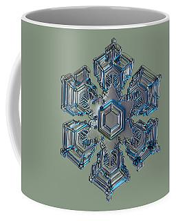 Snowflake Photo - Silver Foil Coffee Mug