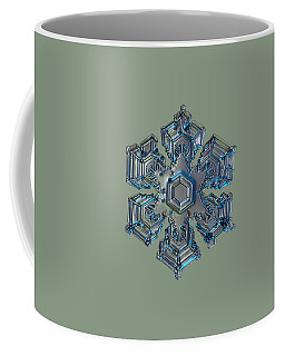 Snowflake Photo - Silver Foil Coffee Mug