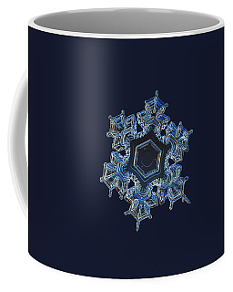 Coffee Mug featuring the photograph Snowflake Photo - Spark by Alexey Kljatov
