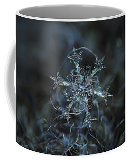 Coffee Mug featuring the photograph Snowflake Photo - Starlight by Alexey Kljatov