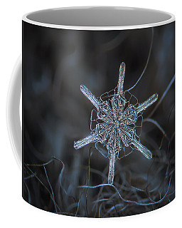 Coffee Mug featuring the photograph Snowflake Photo - Steering Wheel by Alexey Kljatov
