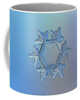 Coffee Mug featuring the photograph Snowflake Photo - Sunflower by Alexey Kljatov