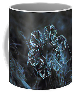Coffee Mug featuring the photograph Snowflake Photo - The Core by Alexey Kljatov