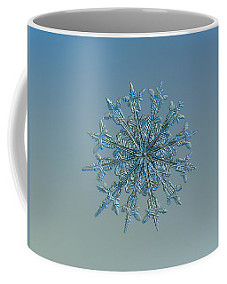 Coffee Mug featuring the photograph Snowflake Photo - Twelve Months by Alexey Kljatov