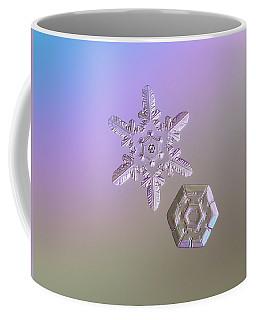 Snowflake Photo - Two Hearts Coffee Mug by Alexey Kljatov
