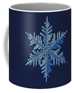 Coffee Mug featuring the photograph Snowflake Photo - Winter Is Coming by Alexey Kljatov