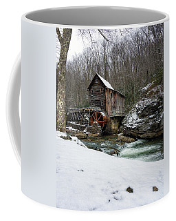 Snowing At Glade Creek Mill Coffee Mug