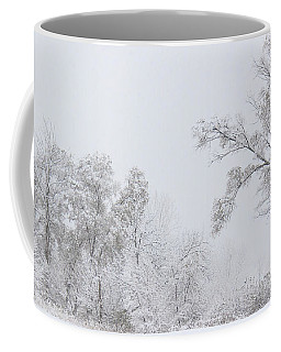 Snowing In A Starbucks Parking Lot Coffee Mug