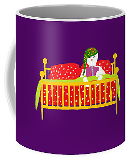 Coffee Mug featuring the digital art Snowman Bedtime by Barbara Moignard