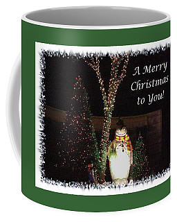Snowman Greetings Coffee Mug by Ellen O'Reilly