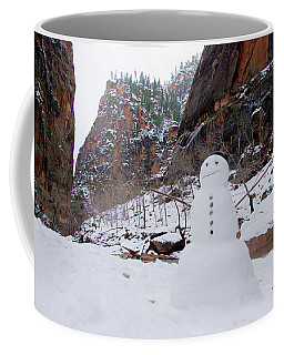 Snowman In Zion Coffee Mug