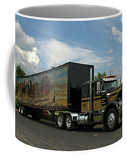 Snowmans Dream Replica Semi Trruck Coffee Mug
