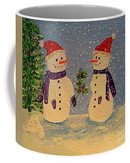 Snow-people At Christmas Coffee Mug