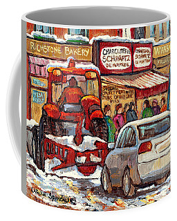 Snowplow Winter Scene Painting For Sale 80 Bus To Schwartz Deli C Spandau Richstone Warshaw Art      Coffee Mug