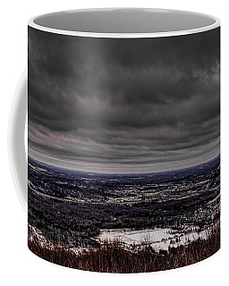 Snowstorm Clouds Over Rib Mountain State Park Coffee Mug